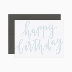 EVERMORE PAPER CO Script Happy Birthday Card