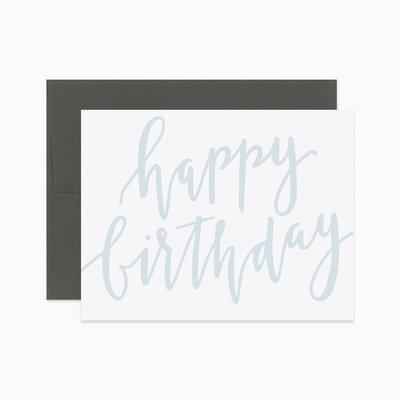 EVERMORE PAPER CO Script Happy Birthday Card