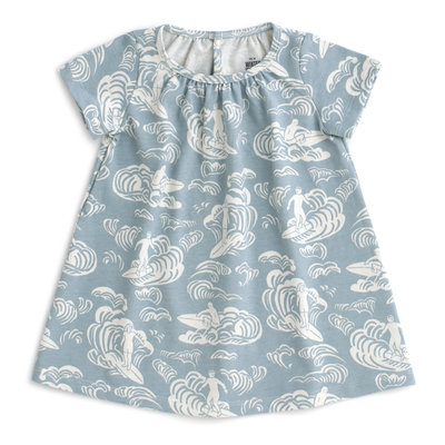 WINTER WATER FACTORY Winter Water Factory Azalea Baby Dress - Surfers Pale Blue