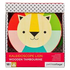 PETIT COLLAGE Petite Collage Kaleidoscope Lion Wooden Tambourine