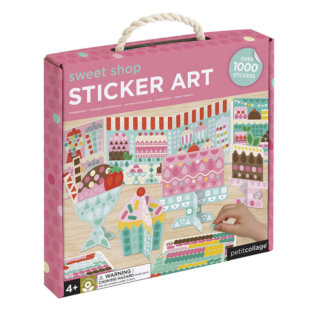 PETIT COLLAGE Petite Collage Sweets Sticker Mosaic Set