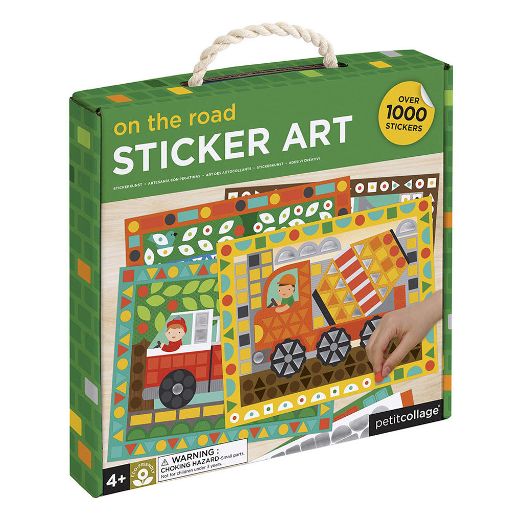 PETIT COLLAGE Petite Collage On the Road Sticker Art Kit