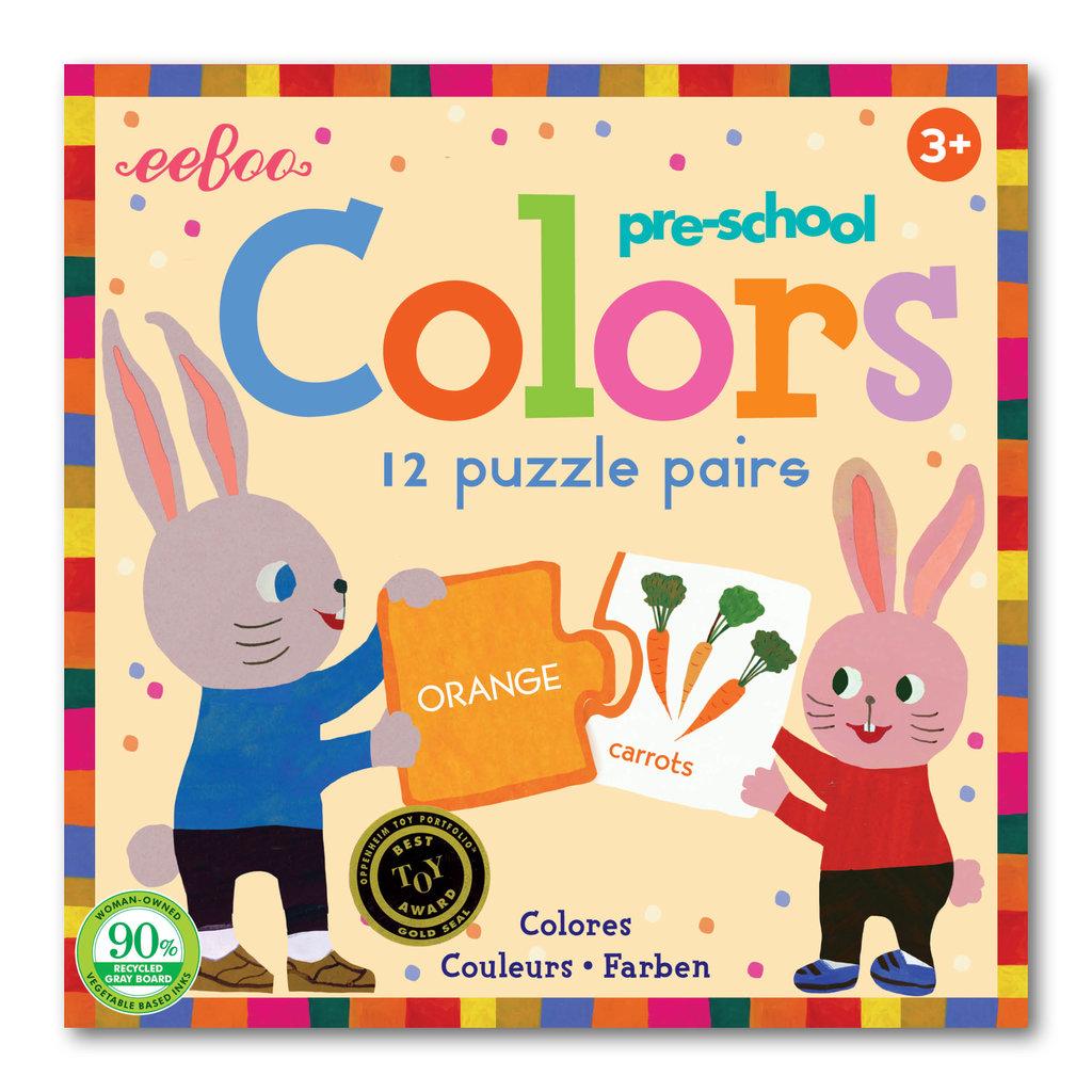 Eeboo Pre-school Colors Puzzle Pairs