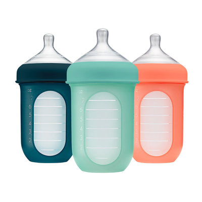 BOON, INC. Boon NURSH 8oz 3 Pack Silicone Bottle - Mint