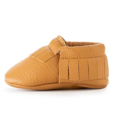 Ginger Leather Baby Moccasins