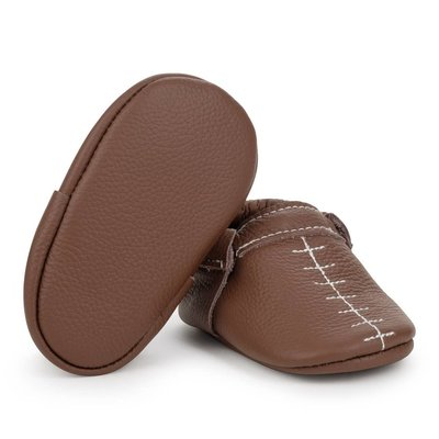 Touchdown Leather Baby Moccasins