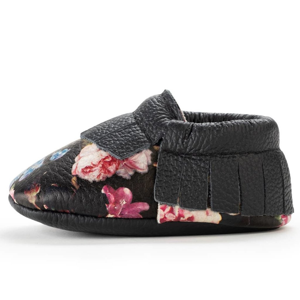 Wildflower Leather Baby Moccasins