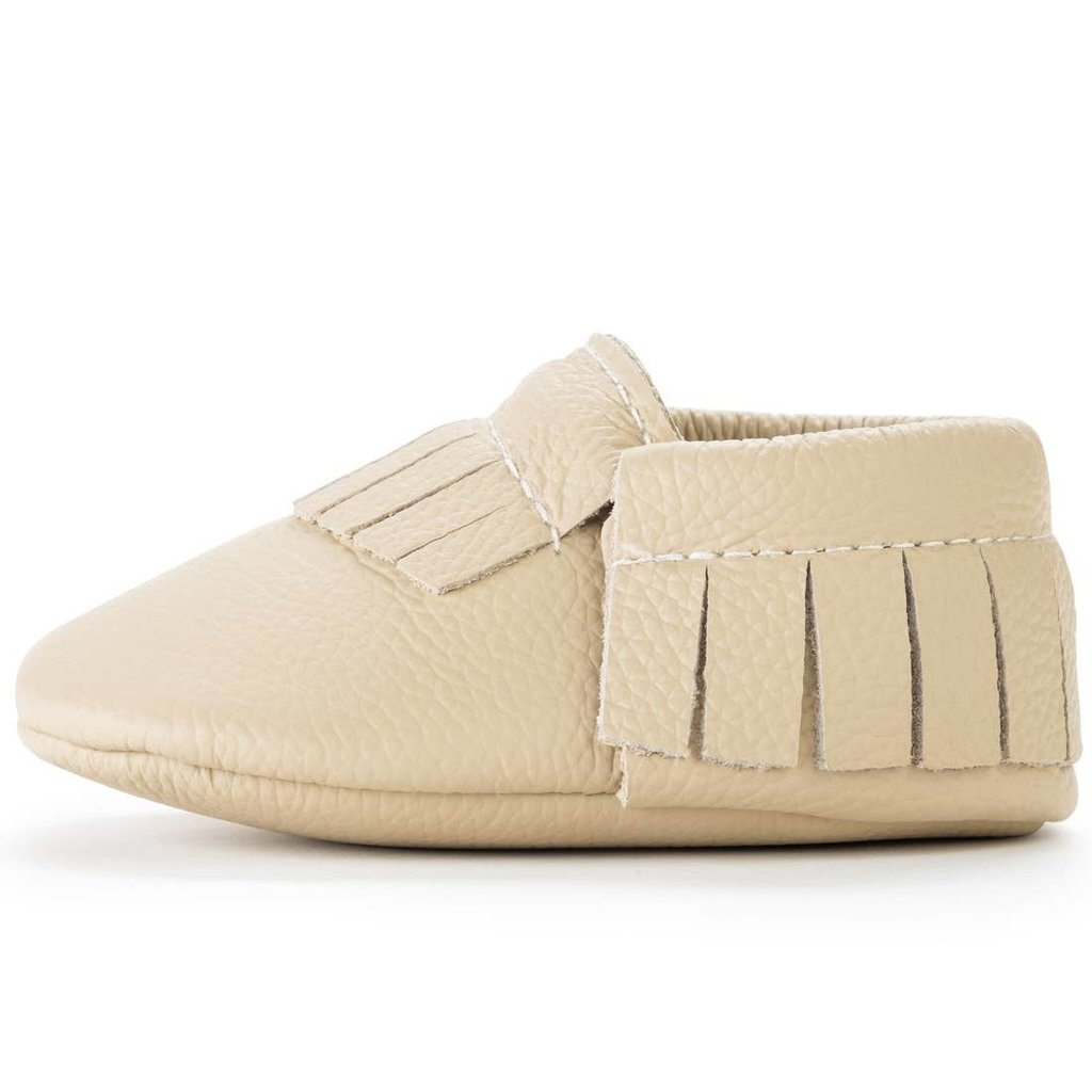 Latte Leather Baby Moccasins