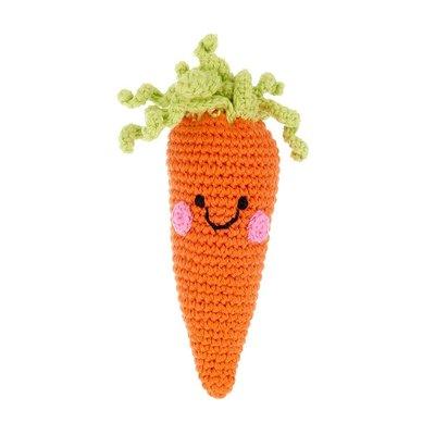Pebble Pebble Friendly Carrot Rattle