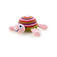 Pebble Pebble Sea Turtle Rattle - Pink