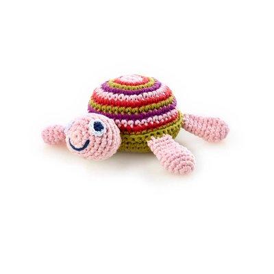 Pebble Pebble Sea Turtle Rattle - Pink