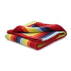 Pebble Pebble Rainbow Stripey Blanket