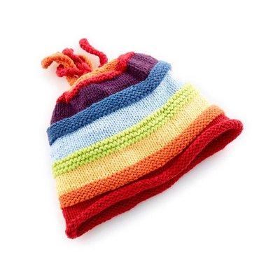 Pebble Pebble Rainbow Stripey Hat