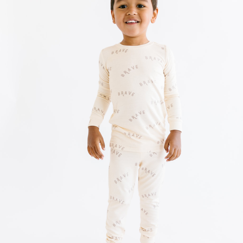 Brave Little Ones Brave Two-Piece Bamboo Set