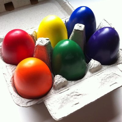 Childhood Store Set Of 6 Egg Crayons
