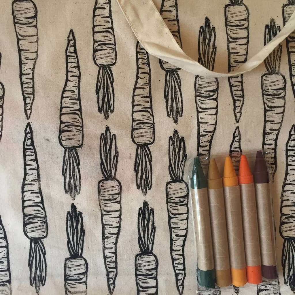 Childhood Store Color Your Own Market Tote Kit - Carrot