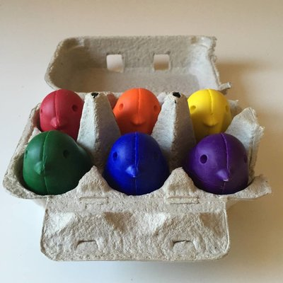 Childhood Store Set Of 6 Chick Crayons