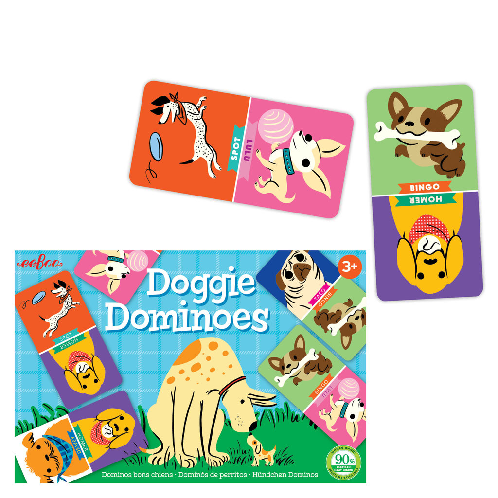 Eeboo Doggie Dominoes Little Game
