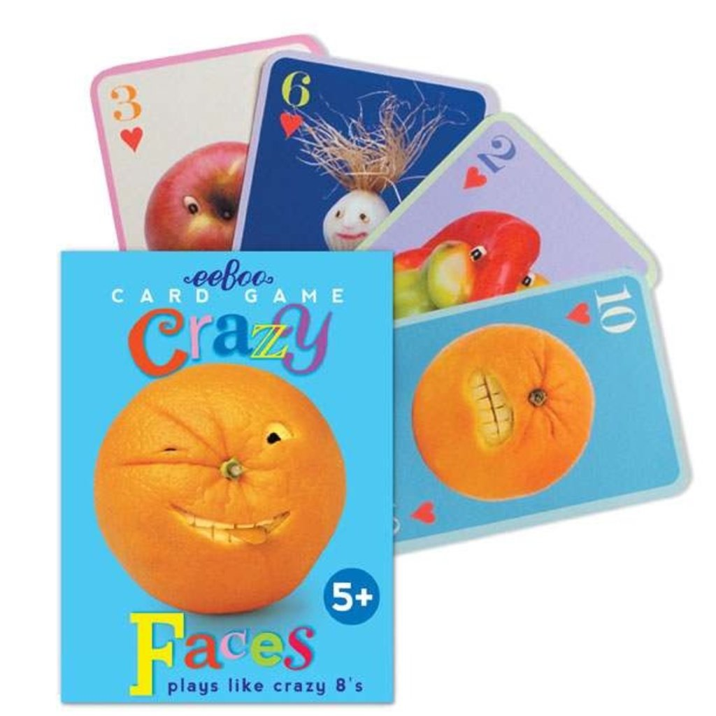 Eeboo Crazy Faces Playing Cards