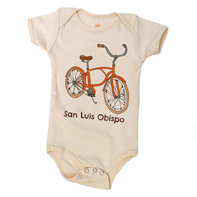 orangeheat Organic Cotton Bike SLO Onesie
