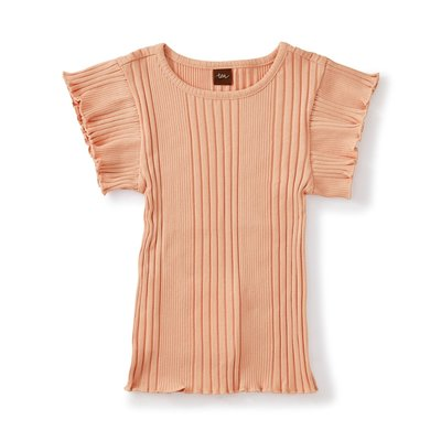 TEA COLLECTION Tea Varlegated Rib Flutter Top