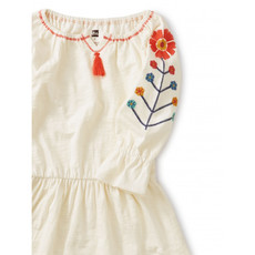 TEA COLLECTION Tea Embroidered Tassel Trim Dress