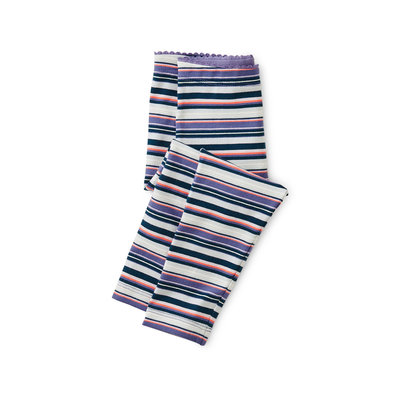 TEA COLLECTION Tea Han Purple Multi Stripe Baby Leggings