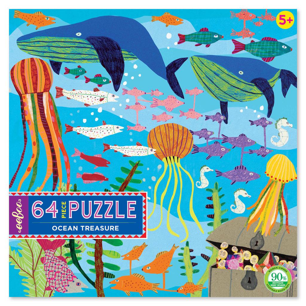 Eeboo Ocean Treasure 64 Piece Puzzle