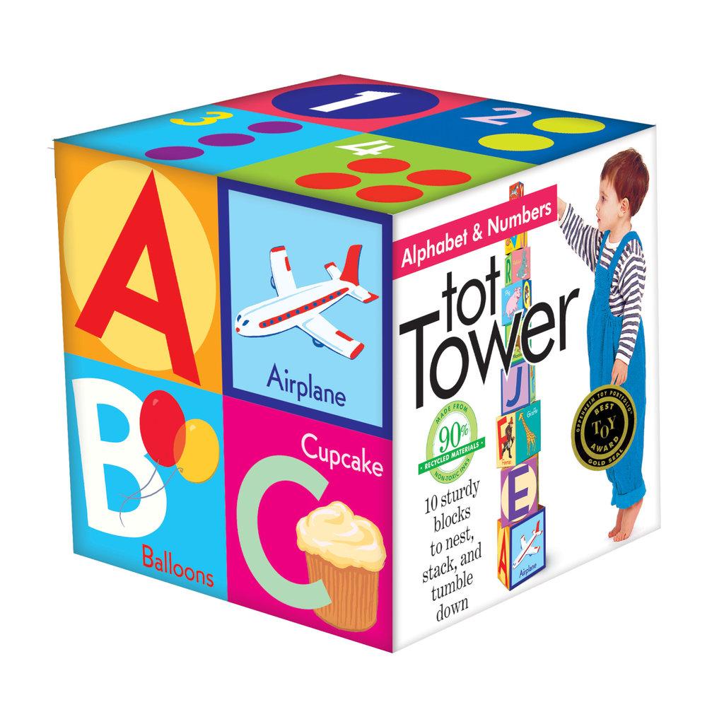 Eeboo Alphabet & Numbers Tot Tower