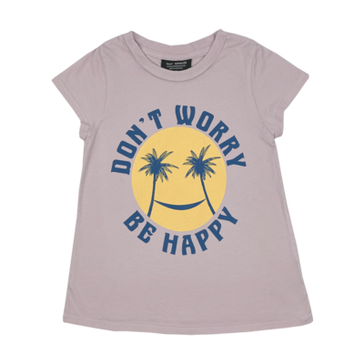 Tiny Whales Don't Worry Be Happy Girls Crew Tee