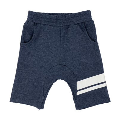 """Tiny Whales """"Off Duty"""" Cozy Time Shorts-Navy"""