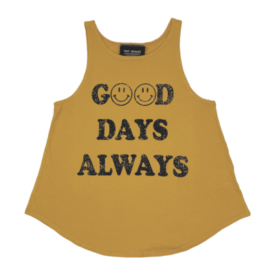 Tiny Whales Good Days Always Girls Racer Tank