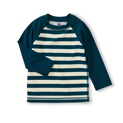 TEA COLLECTION Stripe Colorblock Long Sleeve Rash Guard