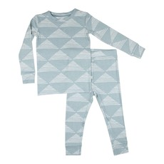 Brave Little Ones Blue Triangles Two-Piece Set