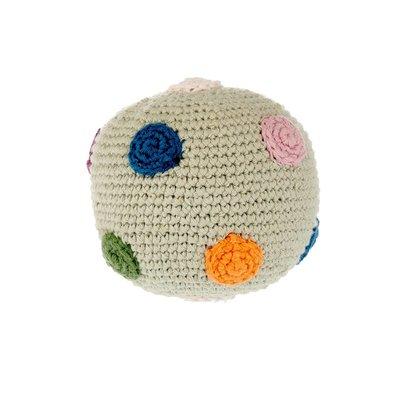 Pebble Organic Ball Rattle Modern Spotty