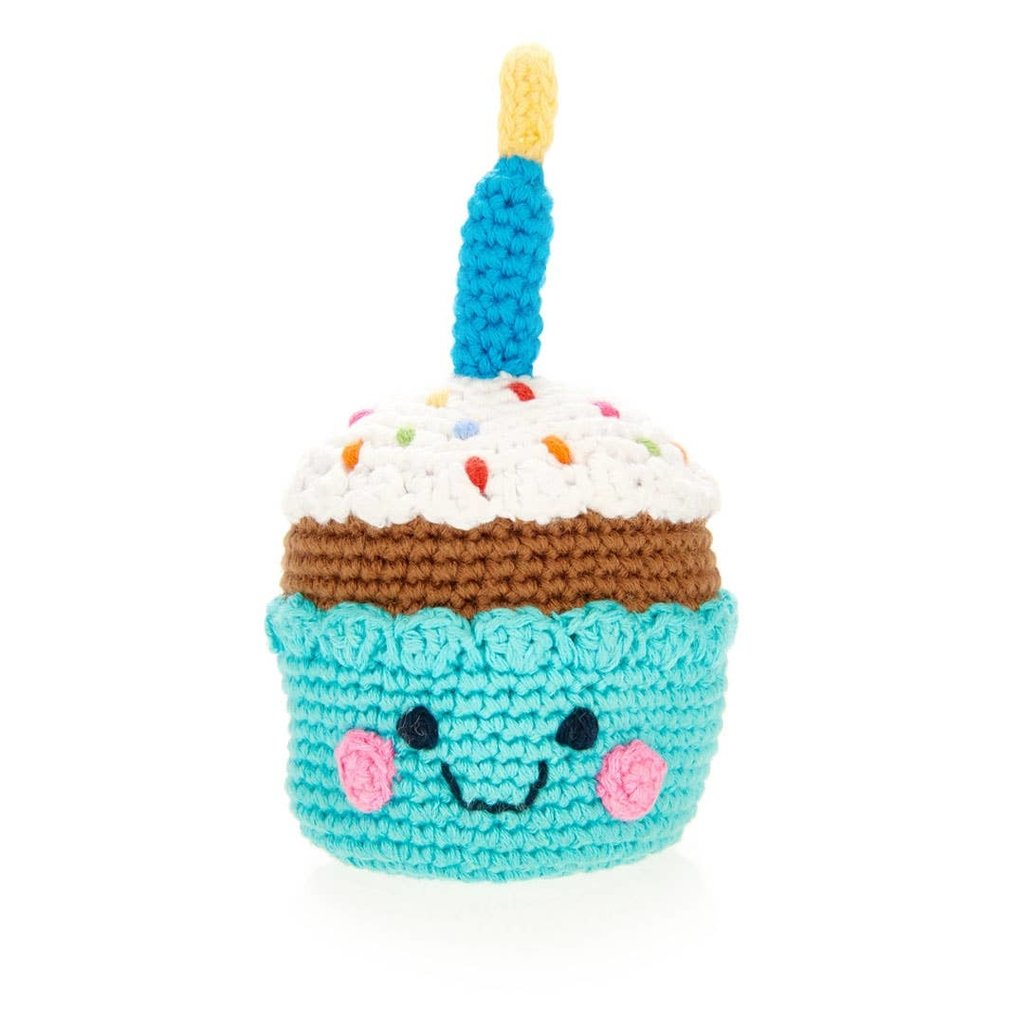 Pebble Friendly Cupcake with Candle