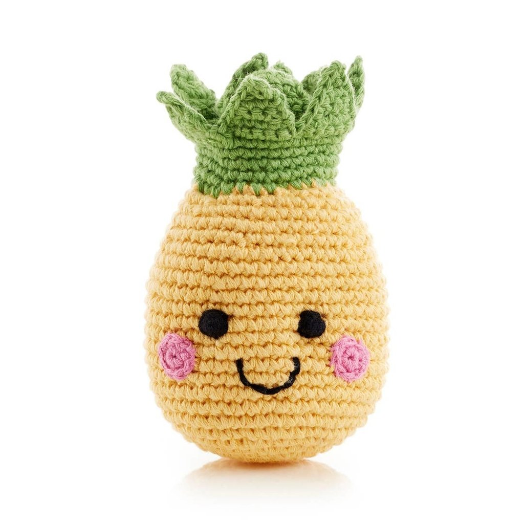 Pebble Friendly Fruit Rattle Pineapple