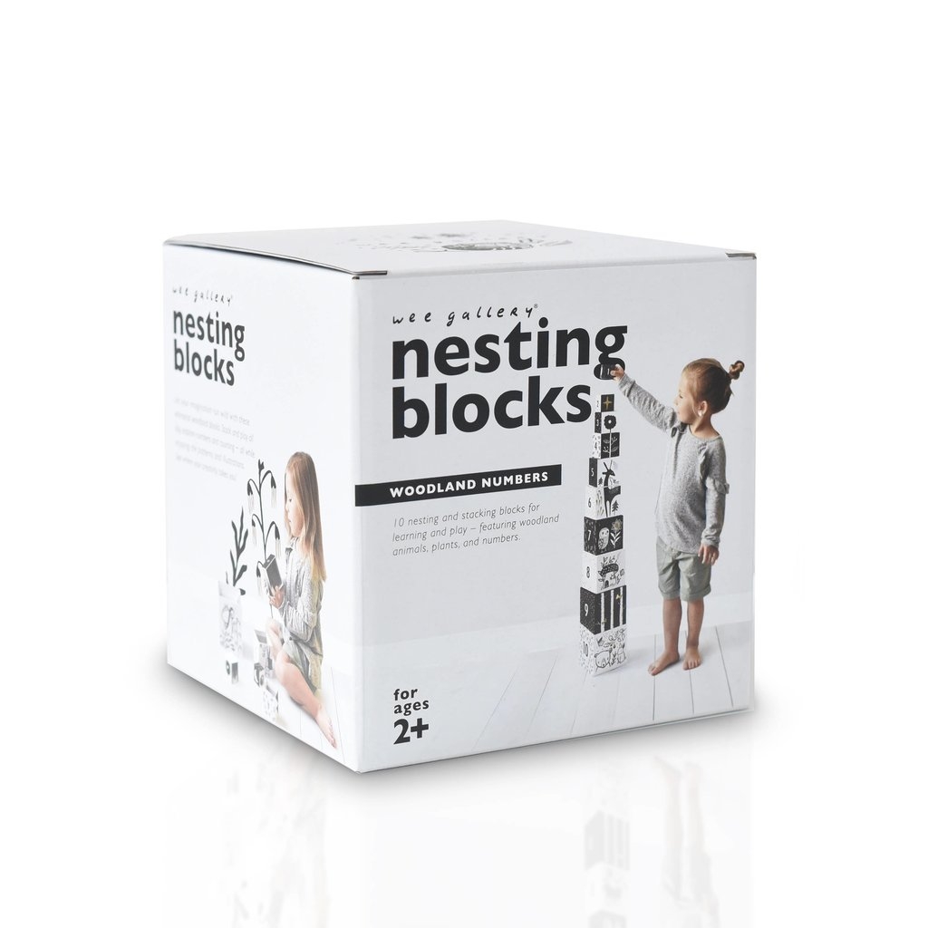 WEE GALLERY Nesting Blocks Woodland Animals