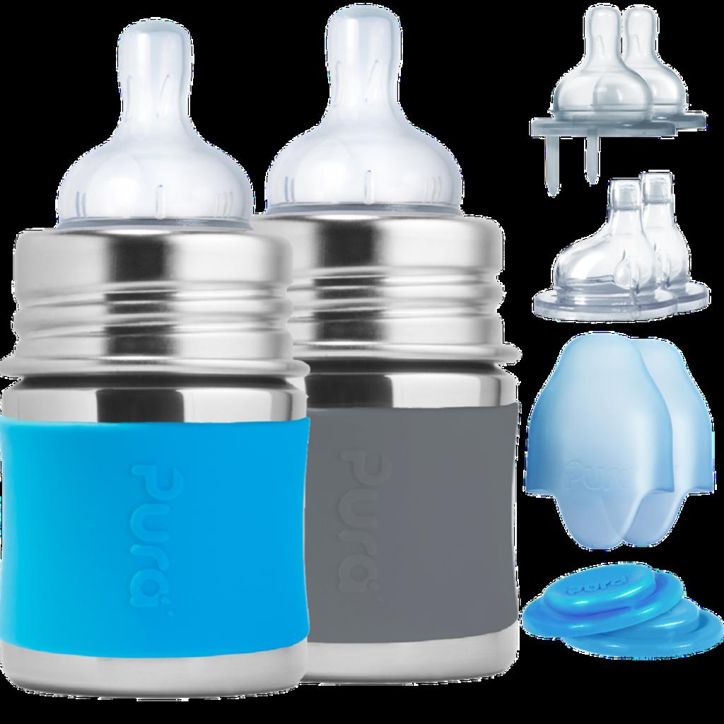 PURA Pura 5oz Starter Set Bottles - Aqua and Slate