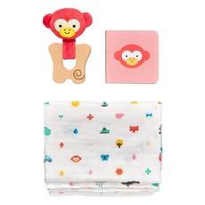 PETIT COLLAGE Little Monkey Gift Set