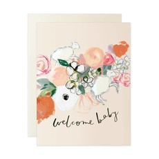 Our Heiday Floral Welcome Baby Card
