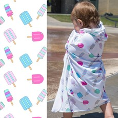 LUV BUG CO Hooded Upf 50+ Sunscreen Towel: Popsicles