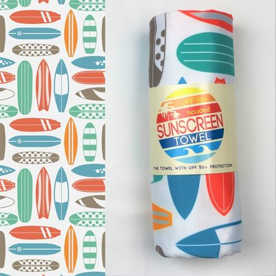 LUV BUG CO Hooded Upf 50+ Sunscreen Towel: Surf Boards