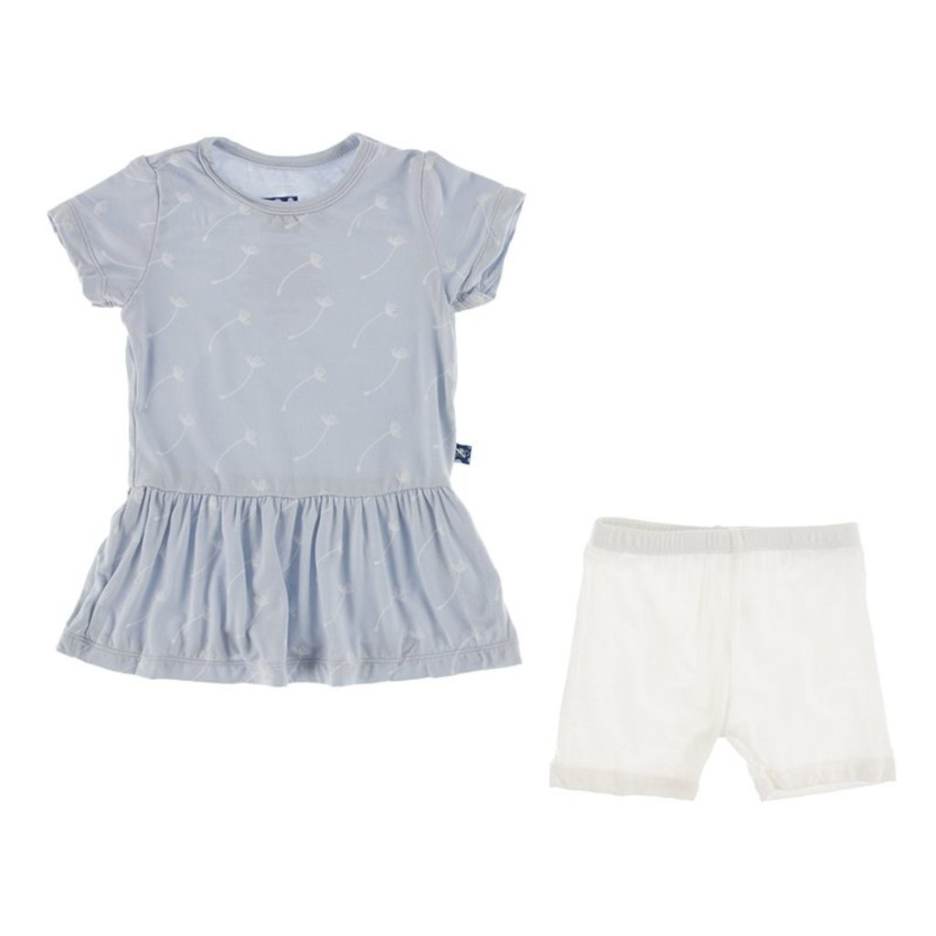 KICKEE PANTS Dew Dandelion Seeds Outfit Set