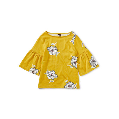 TEA COLLECTION Tea Bell Sleeve Top - Blooming Flora