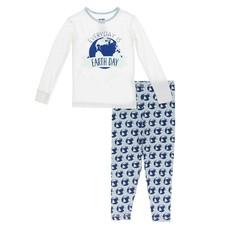 KICKEE PANTS Spring Sky Environmental Protection Long Sleeve Pajama Set