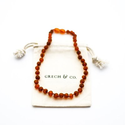 Grech & Co Baltic Amber Children's Necklace - Gaia
