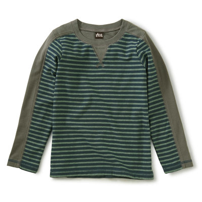 TEA COLLECTION Bedford Blue Striped Sporty Top