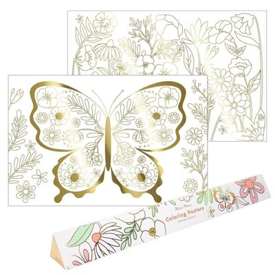 MERI MERI Butterfly Coloring Poster
