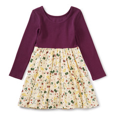 TEA COLLECTION Ripe Strawberry Ballet Skirted Dress